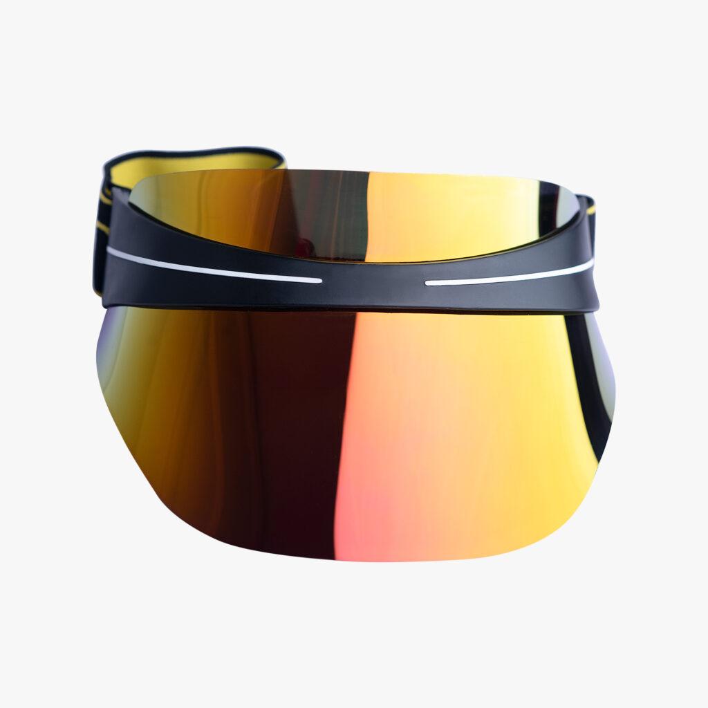 John Lagos Gold Reflective Sun Visor