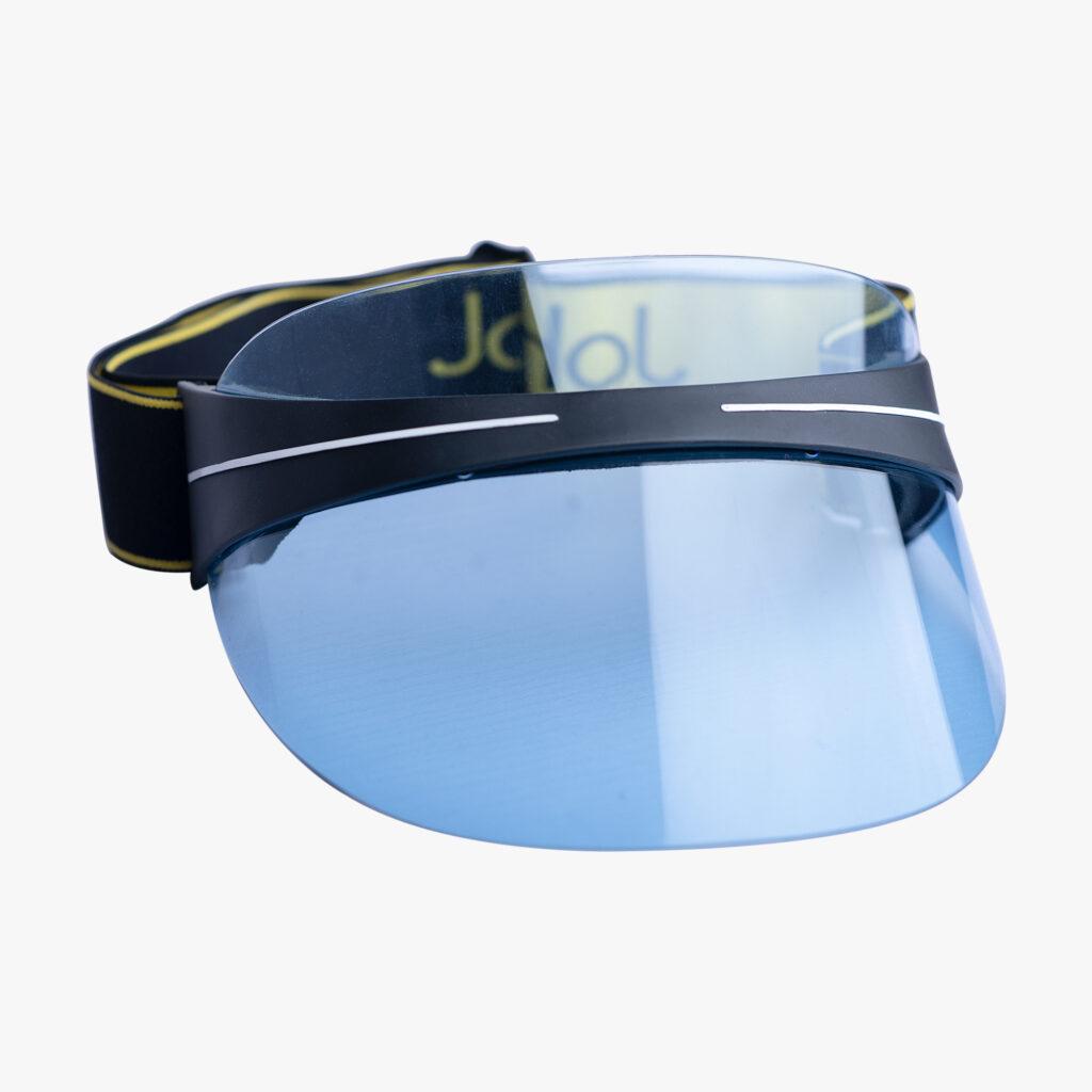 John Lagos Blue Non-reflective Clear Sun Visor