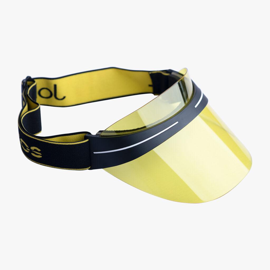 John Lagos Yellow Non-reflective Clear Sun Visor